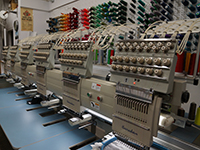 Our high grade embroidery machines produce an incredible result.